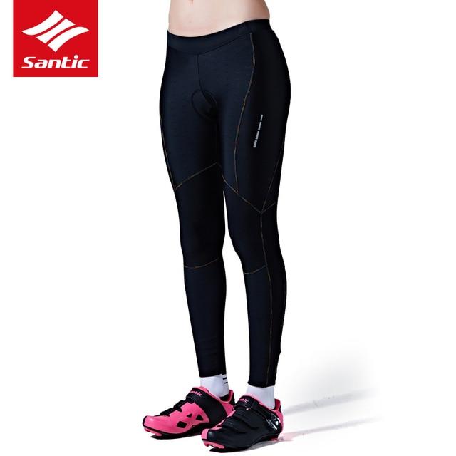 Santic Cycling Pants 2017 Woman Long Pants Coolmax 4D Padded MTB Road Bike Pants Italian fabric high elasticity UV Protection