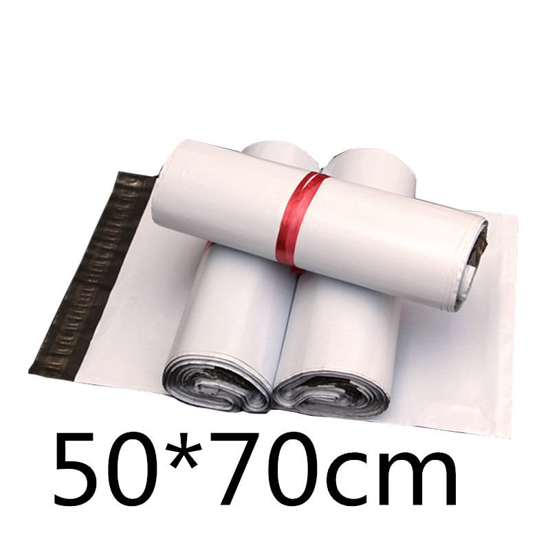 도매 화이트 50*70 cm 대형 셀프 인감 메일 링 폴 리 메일러 가방 플라스틱 봉투 택배 파괴적인 우편 메일 링 가방-에서선물가방&포장용품부터 홈 & 가든 의  그룹 1