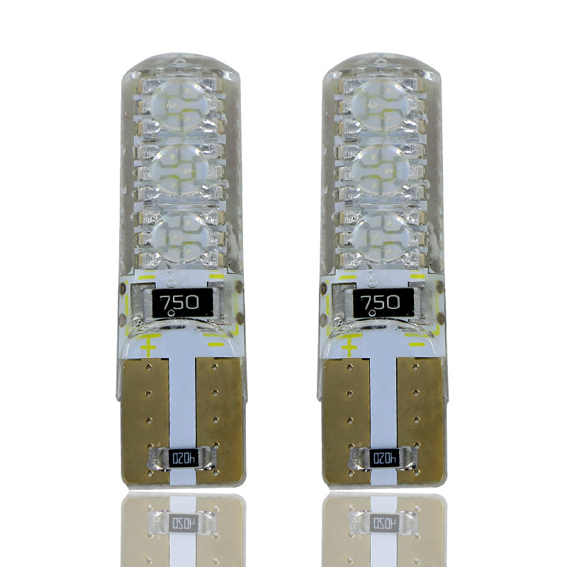 2 x T10 W5W T16 LED Światła postojowe Sidelight Canbus Brak błędu dla Peugeot 107 1007 206 207 2008 301 307 308 407 508 607
