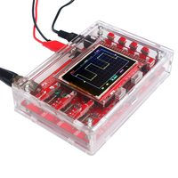 DSO138 2.4 TFT Pocket size Digital Oscilloscope Kit DIY Parts Handheld + Acrylic DIY Case Cover Shell for DSO138