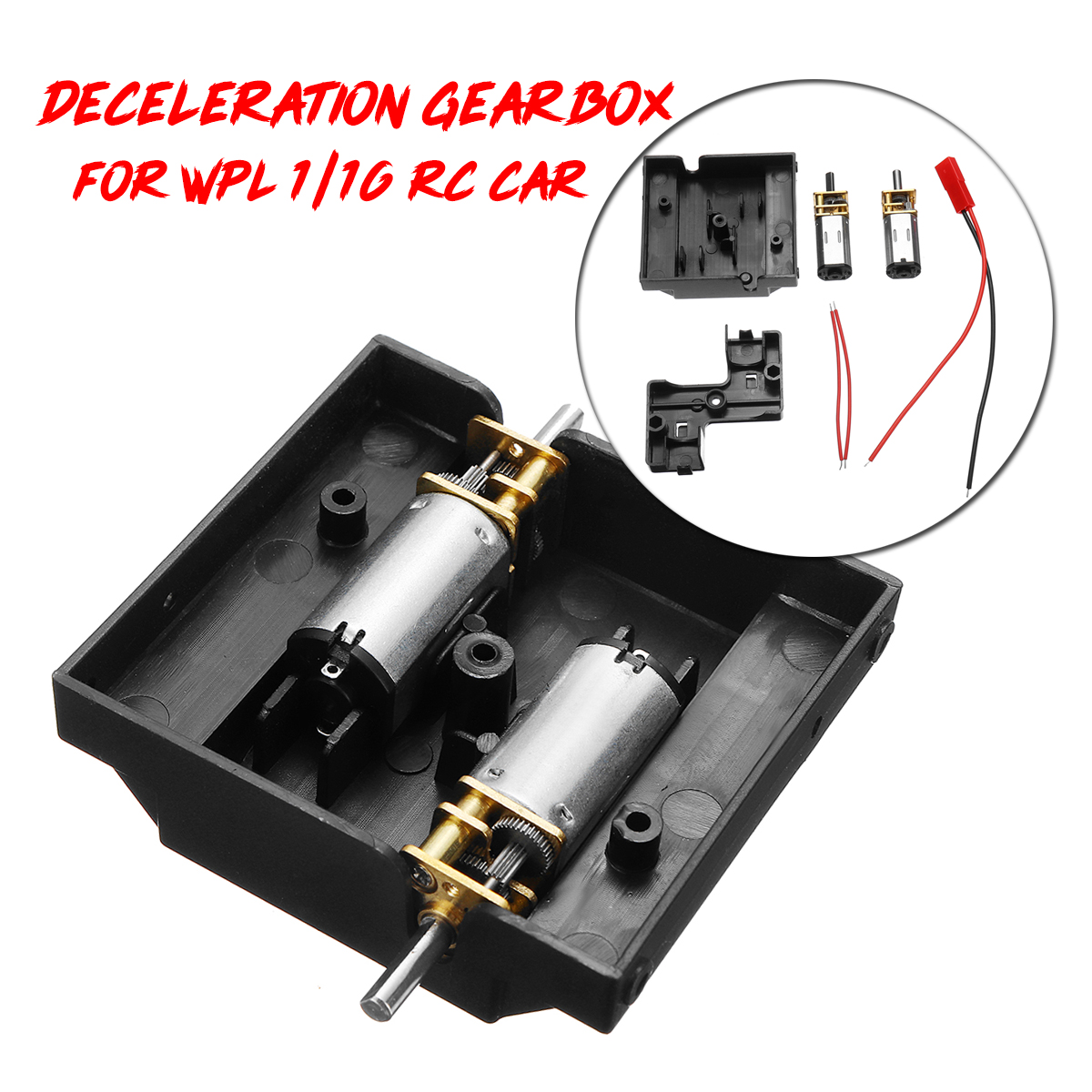 Replacement Spare Parts Deceleration Gear Box Set For WPL 1/16 C14 C24 RC Car Durable Increase Climbing Ability Smoothly Metal front diff gear differential gear for wltoys 12428 12423 1 12 rc car spare parts