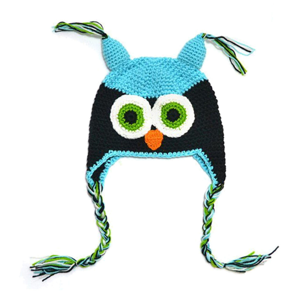 Autumn Winter Warm Baby Clothes Hat Caps Kids Boy Girl Toddler Owls Knit Crochet Winter Hat Beanie Cap For a photo shoot