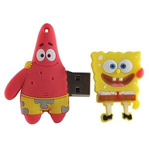 Image 5 - Pendrive usb, 4gb 8gb 16gb 32gb 64gb flash drive bonito esponja b patrick conjunto u disk adorável caneta de desenhos animados criativo