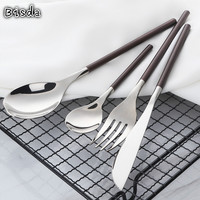 18/10 Stainless Steel Mirror Polished Knife Fork Spoon Flatware Set Multicolor Cutlery Set Gold Tableware Service for 8