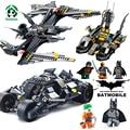 Бэтмен Batmobile Летучая Мышь Истребитель Decool Строительные Блоки Игрушки Бэтмен Рисунках Образовательные Кирпичи Игрушки Совместимость с lego Кирпича