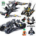 Batman Batmobile Bat Fighter Decool Building Blocks with Toy Figures Educational Bricks Toys Compatible with lego Bricks Batman