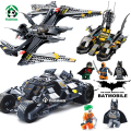 Luchador bat batman batmobile decool building blocks con figuras de juguete ladrillos ladrillos educativos juguetes compatible con lego batman