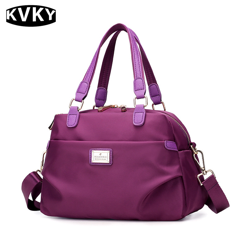 KVKY Women Waterproof Nylon Handbags Ladies Messenger Bags Casual Women Crossbody Bag Travel Shoulder Bag Tote bolsas 2016 ladies fashion bags waterproof nylon bag light travel women messenger bag multi colored nappy bag page 2
