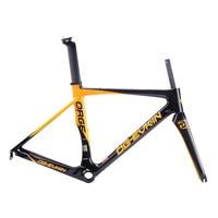 OG-EVKIN DI2 Mechanical Bicycle Frameset 49 52 54 56cm Light Carbon Road Bike Frame Carbon Road Frame 2018 Race Bike 3K Glossy 1