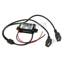DC 12V to 5V 3A Dual USB Power Converter for IPHONE Car Regulator Step Down  H02