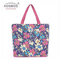Aosbos Hot Sale Casual Waterproof Shopping Bag Fashion Portable handbag Large Capacity Reusable Popular tote Bag for women