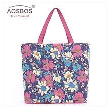 Aosbos heißer verkauf casual wasserdicht einkaufstasche mode portable handtasche der großen kapazität wiederverwendbaren beliebte einkaufstasche für frauen