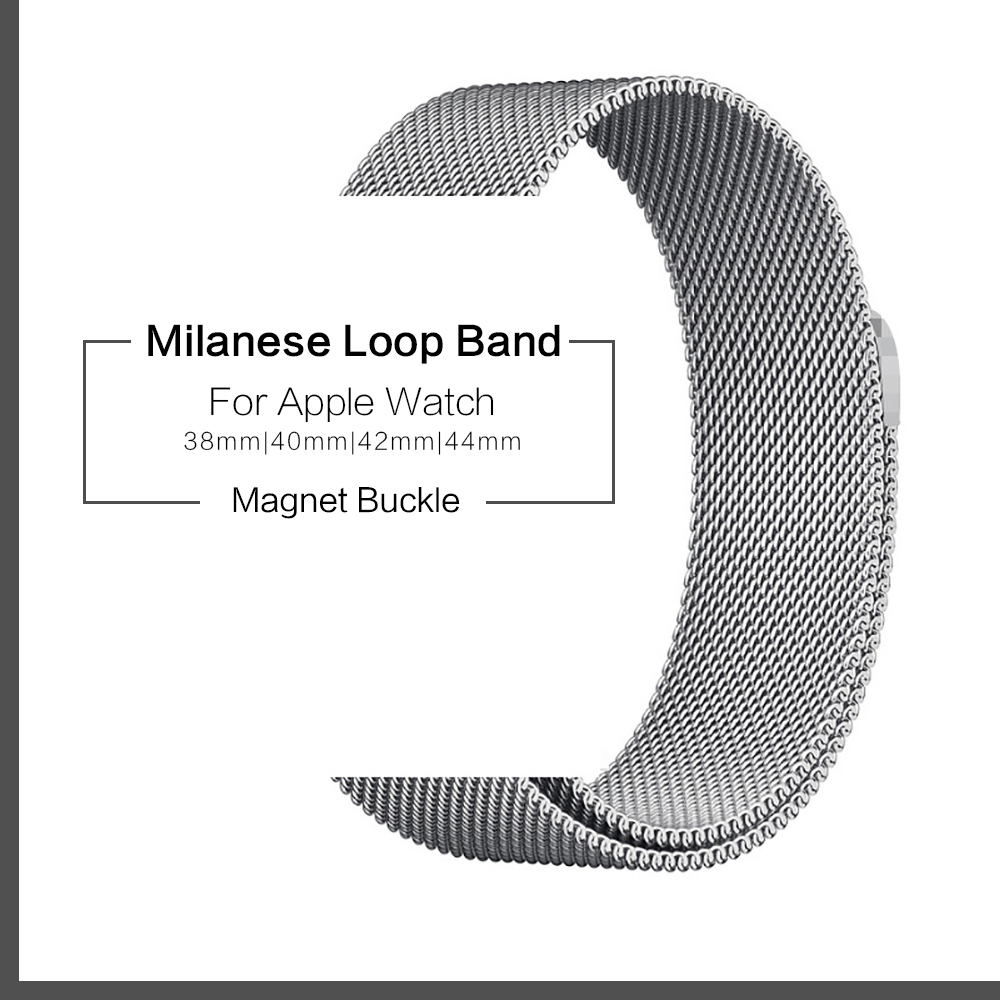 Milanese Loop Magnet Band 1:1 For Apple Watch 38mm 40mm Stainless Steel Strap For Apple IWatch Milanese 42mm 44mm Series 1 2 3 4