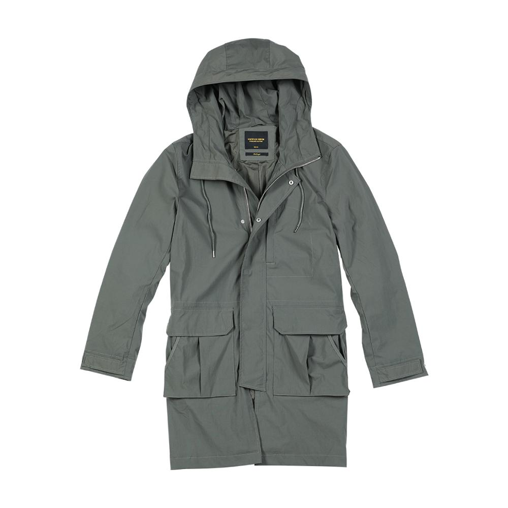 Slim Fit Pocket Hooded Trench Coats  5
