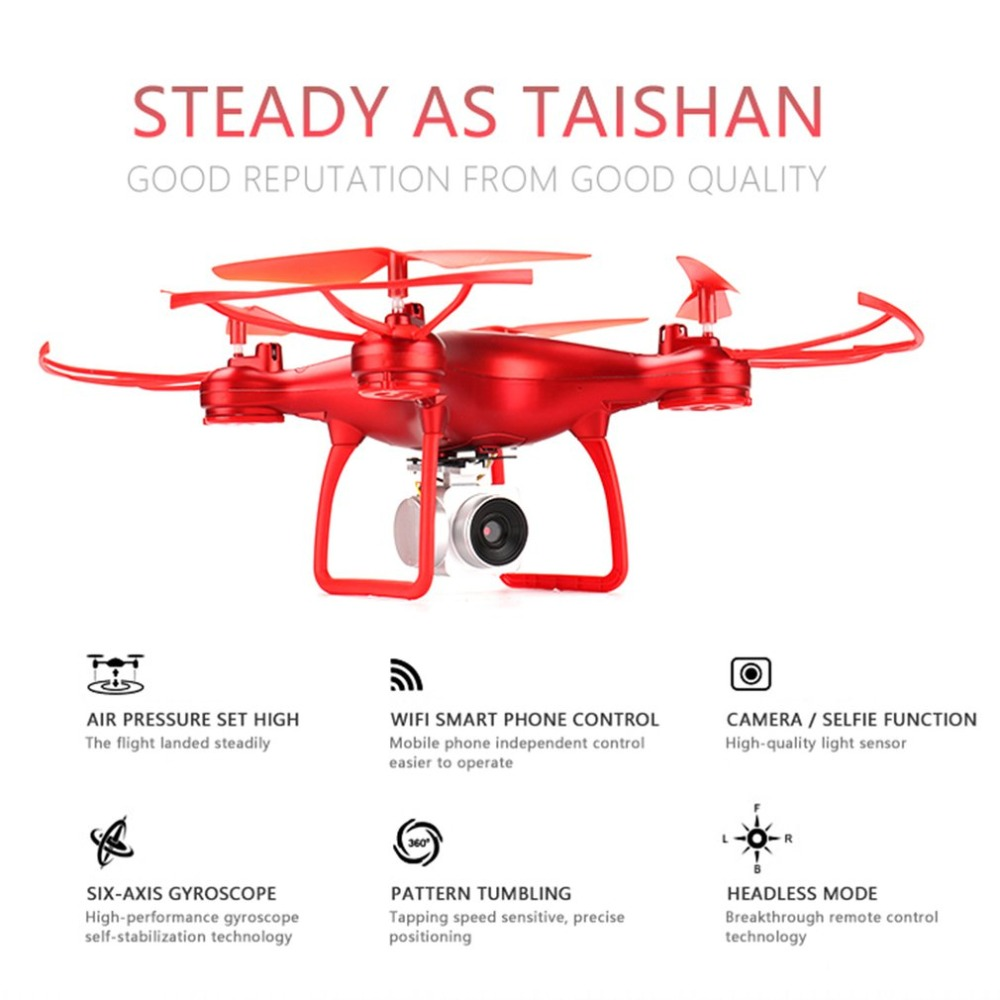 Selfie RC Quadcopter 720P Live Video HD Camera Altitude Hold Headless Mode One Key Take-off RTF RC Helicopter Drones RC Toys(China)