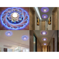 New Design Mordern Corridor Mirror Ceiling Lamp Aisle Veranda Lighting Down Crystal Surface Mounted LED Ceiling