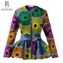 African blouse for Women fashion top traditional clothing african clothes women print shirt plus size