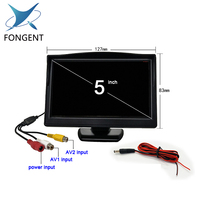 Fongent 2 Ways Video Input 5 Inch TFT Auto Video Player 5 Car Parking Monitor For Rearview Camera Parking Assistance System