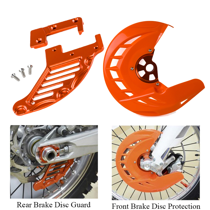 Front Rear Brake Disc Guard Protector For KTM EXC EXCF SX SXF XC XCF EXC-F 125 200 250 300 350 400 450 525 530 2003-2014 Cover