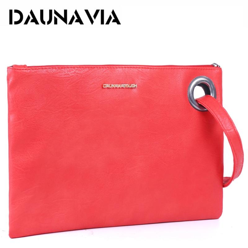 DAUNAVIA brand fashion women bags ladies women clutch bag leather women envelope bag clutch evening bag female Clutches Handbags