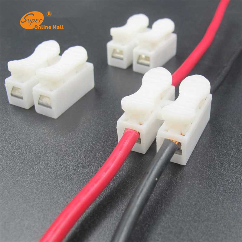20 x 2p Spring Connector Electrical Cable wire no welding no screws clamp Terminal Block Splice Screws Terminal clamp image