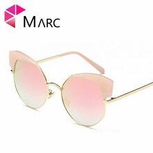 MARC UV400 NEW WOMEN Eyewear designer sunglasses Oculos fashion Gradient Cat eye Pink Flowers Metal alloy