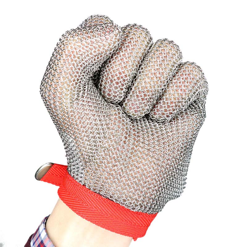 Long stainless steel metal cut-proof steel wire gloves Cut-resistant wear-resistant cutting glovesLong stainless steel metal cut-proof steel wire gloves Cut-resistant wear-resistant cutting gloves