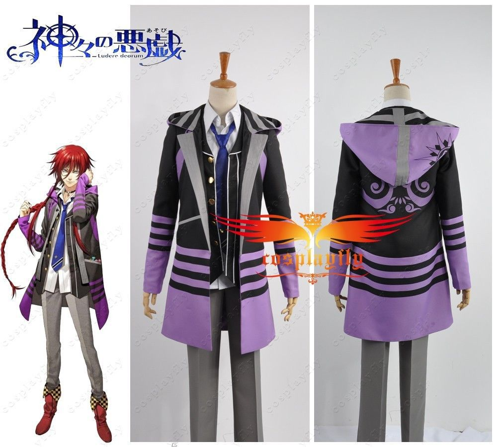 Kamigami no Asobi Thor Brother Loki Laevatein Uniform Cosplay Costume Any Size Adult Men Outfit Clothing Christmas (W0410)
