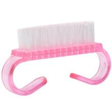 50pcs/lot Plastic Soft Nail Cleaning Brush 3D Manicure Pink,Blue,Purple Dust Accessory Beauty Tool Small (Random)