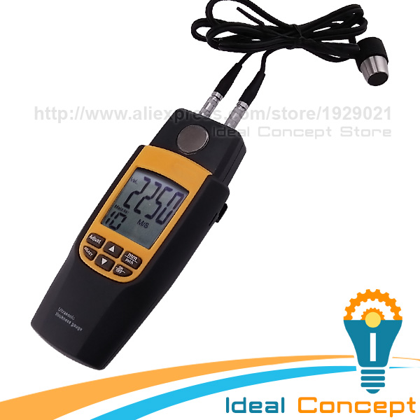 Ultrasonic Thickness Meter Wave Velocity Iron Steel Glass Plastic Testing 5MHz 1.2~220mm Brass Gold Silver Zinc  цены
