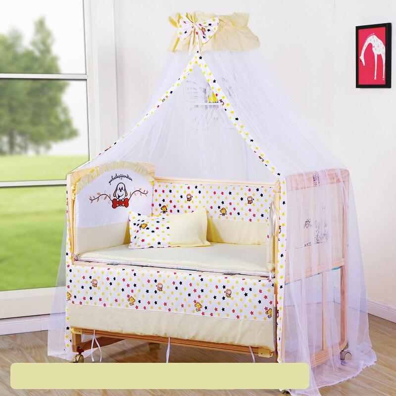 Bébé berceau pare-chocs doux respirant coton bébé berceau lit protecteur pour les enfants au lit ensemble de literie pour les enfants