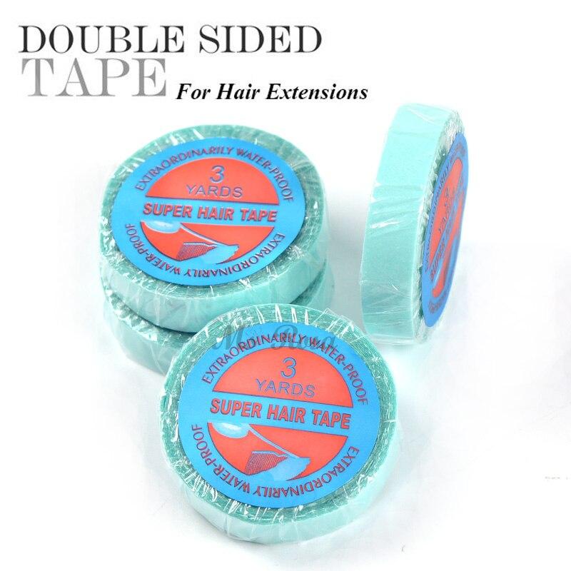 방수 헤어 접착 테이프 1 X 300cm 레이스가 발 테이프 및 접착제 머리 확장에 대 한 양면 테이프