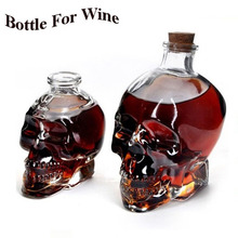 1pcs Classic Glass Skull Bottle Creative Crystal Vodka Wine 180ML/350ML Personalized Halloween Hip Flasks