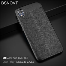 For Asus ZenFone Live L1 ZA550KL Case Silicone PU Leather Shockproof Anti-knock X00RD