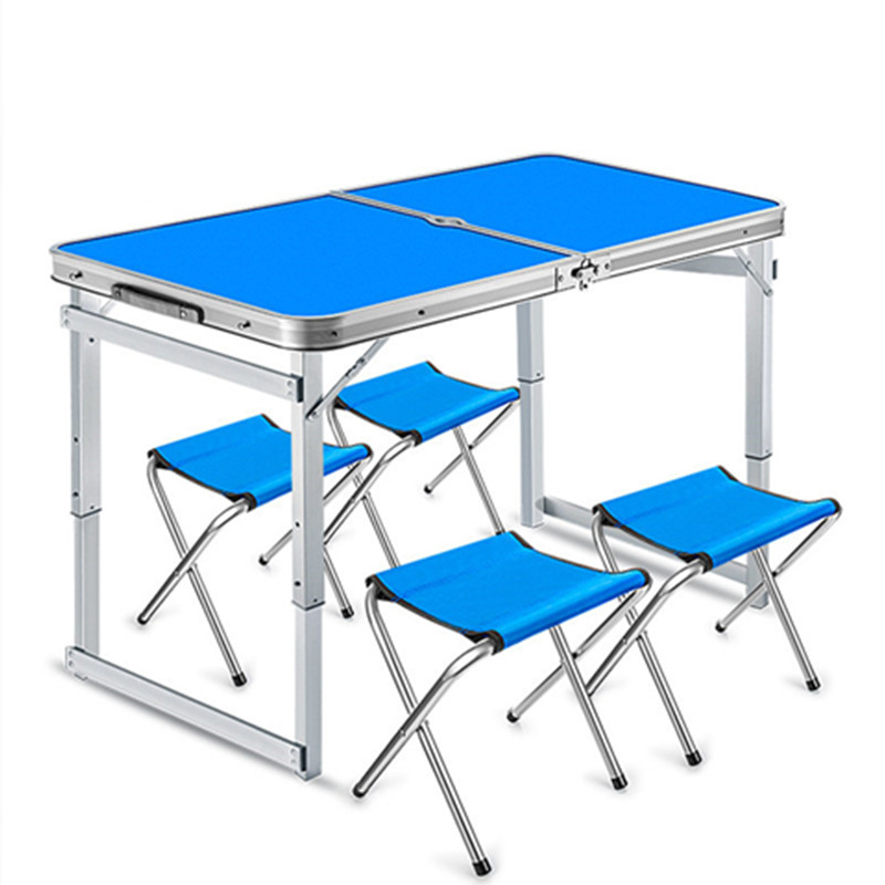 Portable Folding kitchen Dining Table Outdoor Etabli Pliant Aluminum alloy Stable Mesa Camping Folding Tables With Stools