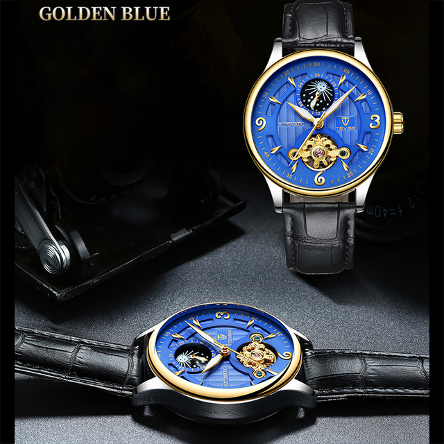 TEVISE Automatic Men Mechanical Watch Fashion Luminous Waterproof Wrist Watches Sport Male Clock Business Wristwatch for Men