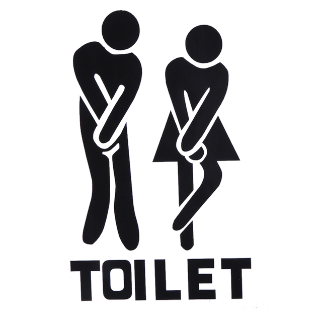 1pcs Wall Decal PVC Removable Wall Stickers Man Woman Toilet Sign Paste For  Bathroom Door