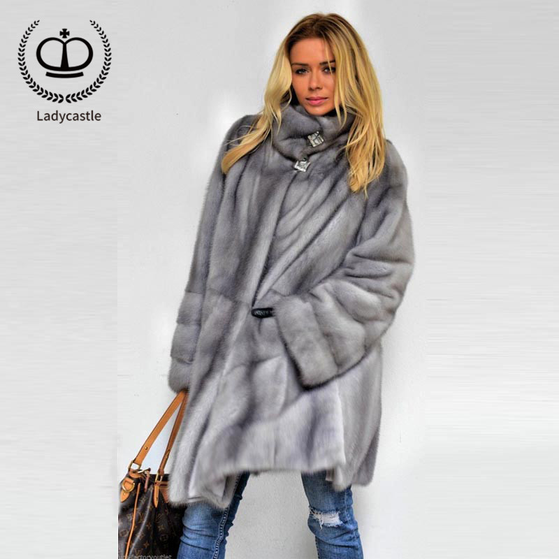 Jackets & Coats Women's Clothing 100% Genuine Fur Coats Brand Quality Loose Warm Mink Fur Jackets Young Girl Tops Outerwear Overcoats Capped Woman Winter 2018
