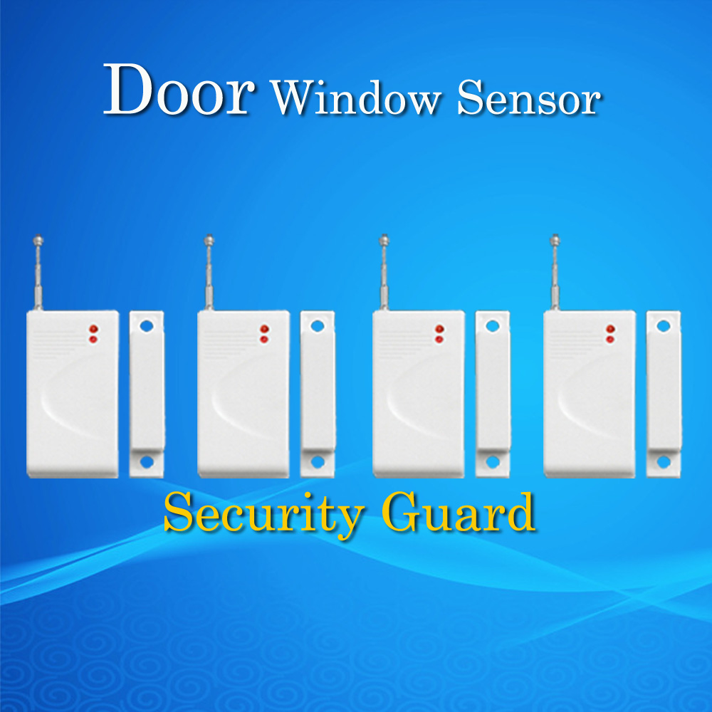 Free Shipping for GSM Alarm System Window Magnetic door detector 433MHz Wireless Home Burglar Security Alarm System  4pcs free shipping new 6pcs gsm alarm system white infrared detector 433 mhz sensor for wireless home burglar security alarm system