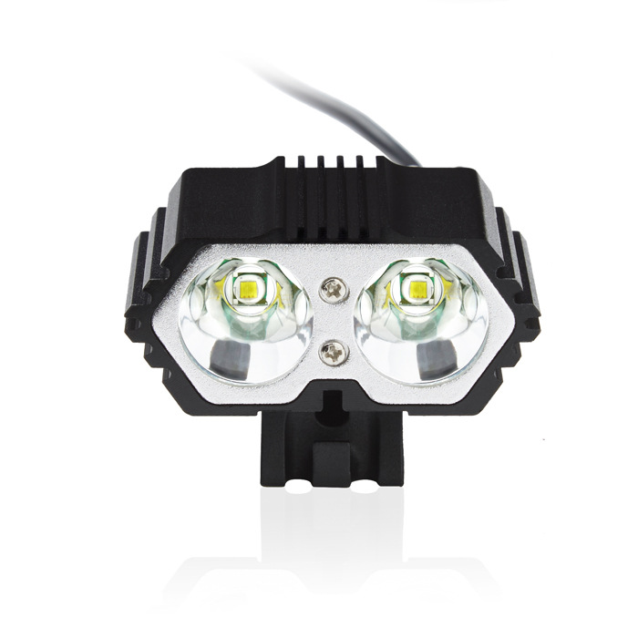 4000LM 2x L2 DC/USB LED 4 Modes Flashlight Headlight Bicycle Bike Light Lamp F2 DC USB Input With 2 O-ring Holder