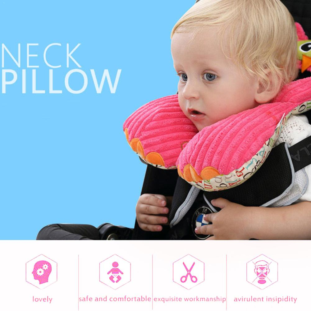 Safety Child Care Neck Protection U Pillow Car Seat Head Support Cushion Cute Animal Designer Baby Travel Sleeping Pillow