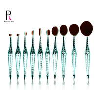 Princess Rose Diamond Makeup brushes Soft Synthetic Hair Professional 10pcs Tooth Brush sets for Makeup Cosmetic Eyes Foundation