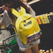 Осень 2017 г. Новинка зимы Лидер продаж модные женские туфли женские повседневные школьников молния Простой Мягкая парусиновая сумка сумки рюкзаки