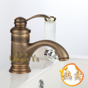 Clear and full Yaou style antique copper copper basin faucet washbasin faucet washbasin faucet American