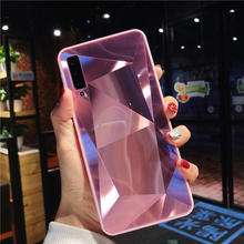 цена 3D Diamond Mirror Case For Samsung Galaxy A9 J4 J6 A6 A8 Plus A7 2018 A750 TPU Silicone Case For J2 J5 J7 Prime J3 2017 2016
