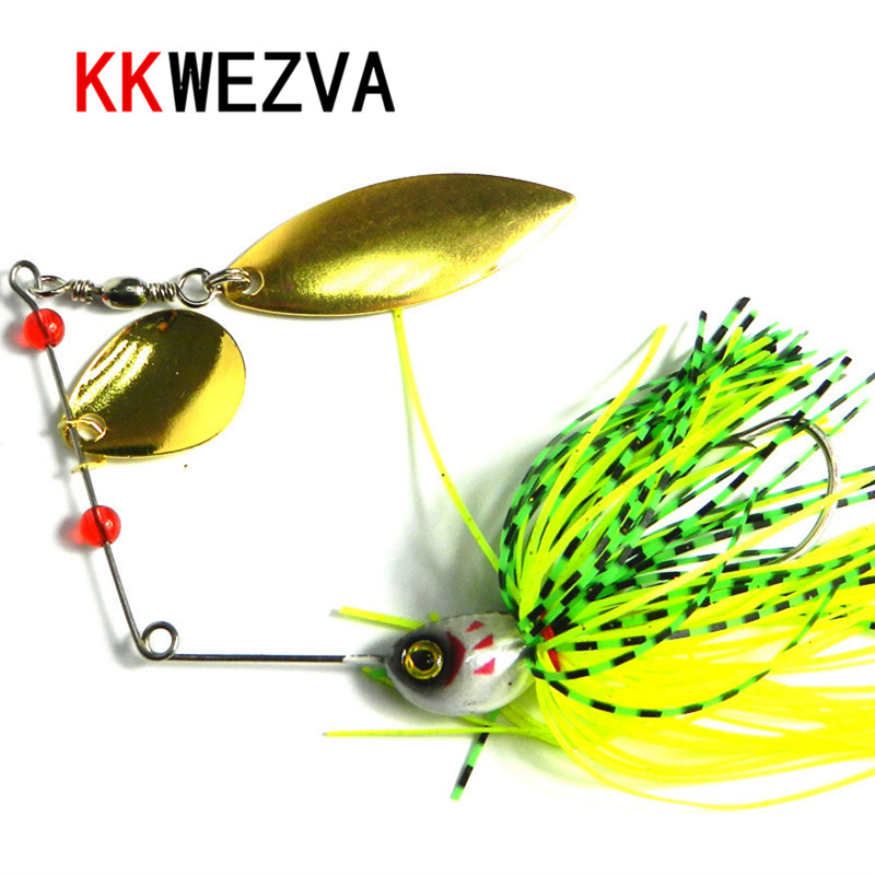 KKWEZVA Metal 1pc Fishing Lure Spinnerbait 20.5g wobbler Fresh Water Shalt water Bass Walleye Crappie Minnow Soft bait