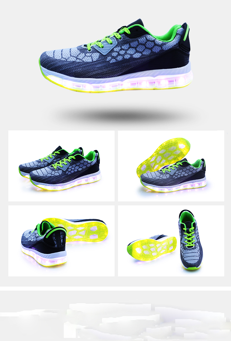 DJSUNNYMIX LED Sneakers Men comfort breathable Light Up Glowing Shoes unisex Luminous Superstar Shoes Chaussure Homme