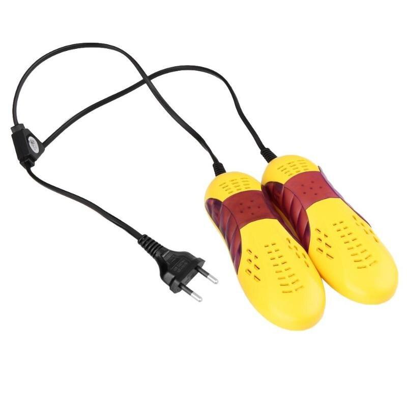 220 V 10 W forma de coche de carreras Voilet luz secador de zapatos Protector del pie zapatos secador