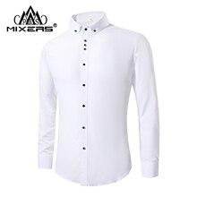 2018 New Fashion White Dress Shirts Men Long Sleeve Casual White Formal Shirt Men Slim Fit Wedding Shirt Male Clothing Tops