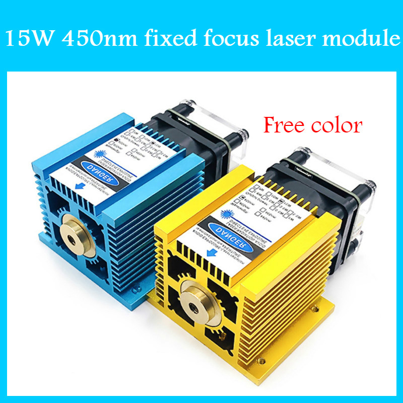 15W 450nm Fixed Focus Laser Module 15000mw DIY Bule Laser Head For CNC Laser Engraving Machine And Laser Cutter With PWM